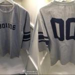 เสื้อวันเกิด EXO-M Football T-shirt (สีเทา) ระบุเมน