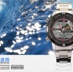 นาฬิกาข้อมือชายแฟชั่น Shank Sport watch SH049