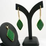 ต่างหูและจี้หยกพม่า (Burma Jade Earring And Pendant)
