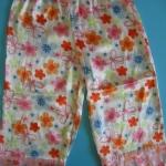ZZ092 Total Girls กางเกงชุดนอน ผ้าพริ้ว ลายผีเสื้อและดอกไม้ Size M/XL