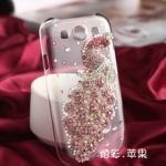 Case Samsung S3 เคสนกยูงประดับเพชรคริสตัลแนวหรูหราอลังการ สวยสุดๆ