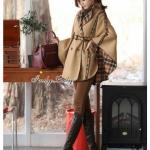 [พร้อมส่ง] เสื้อผ้าแฟชั่นเกาหลี เสื้อโค๊ท Brand BURBERRY ใส่ได้ 2 ด้านเก๋ ทรงสวย ปีกค้างคาว ลายสก๊อตน่ารัก คอปก ด้านหน้ามีกระดุมสวมใส่ง่าย
