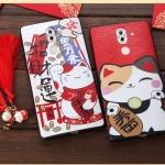 เคส Huawei GR5 (2017) พลาสติกลายแมวกวักนำโชค Lucky Neko เฮงๆ พร้อมที่ห้อยเข้าชุด ราคาถูก