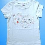 EXTG009 Extreme Girl เสื้อยืดเด็กหญิงเนื้อนิ่ม สีครีม ปักเลื่อม things that make me happy Size 24M/3Y