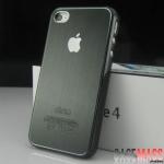 case iphone 4s 4 เคสไอโฟน4s 4 เคสโลหะลายเส้นขอบมนๆ เงาๆ สวยๆ brushed aluminum shell metal protective