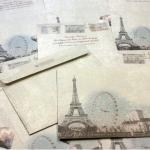 Lovely Paris Letter & Envelope