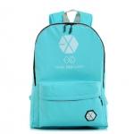 กระเป๋าสะพายหลัง EXO สีฟ้า (เรืองแสง)