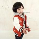 แจ็คเก็ต สีแดง แพ็ค 5ชุด ไซส์ 100-110-120-130-140
