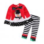 เสื้อ+กางเกง คริสต์มาส 16287 สีแดง แพ็ค 5 ชุด ไซส์ 80-90-100-110-120 (เลือกไซส์ได้)