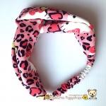 ผ้าคาดผม (อาบน้ำ/แต่งหน้า) ลายเสือดาวเฮลโหลคิตตี้ Hello Kitty Soft headband