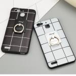 เคส Huawei GR3 พลาสลิกลายตารางคลาสสิค พร้อมแหวนสำหรับตั้ง ราคาถูก (ไม่รวมสายคล้อง)