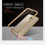 เคส Samsung Galaxy A7 2016 ซิลิโคน TPU โปร่งใสขอบเงางามสวยมากๆ ราคาถูก