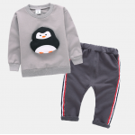 เสื้อ+กางเกง สีกาแฟ แพ็ค 4ชุด ไซส์ 70-80-90-100 (เหมาะสำหรับ 1-4ขวบ)
