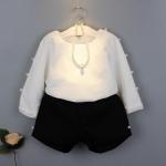 เสื้อ+กางเกง สีดำ แพ็ค 5ชุด ไซส์ 7-9-11-13-15