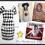 Set เสื้อ+กระโปรง แพทเทิร์น P's Material  รุ่น Mabel & Humphrey Star สีขาว-ดำ