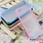 case iphone 5 เคสไอโฟน5 เคสขอบนุ่มหลังด้านโปร่งแสง iPhone5 the phone shells PC matte board + Candy TPU border