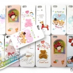 case iphone 5 เคสไอโฟน5 Korea Happymori เคสลายการ์ตูนทั้งด้านหน้าและหลัง ติดหมีน้อยและโบว์ น่ารักมาก มีหลายแบบให้เลือก
