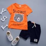 ชุดเซตน้องหมี SLOWLY สีส้ม [size 6m-1y-2y-3y]