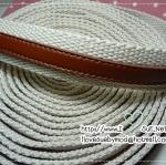 สายกระเป๋าผ้าคาดหนังแบบหนา 2.5 cm (หลาละ)