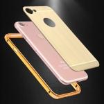 เคส iPhone 7 ขอบเคสโลหะ Bumper + พร้อมแผ่นฝาหลังเงางามสวยจับตา ราคาถูก