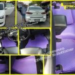 ขายยางปูพื้นรถเข้ารูป Mitsubishi Lancer EX ลายกระดุมสีม่วงขอบม่วง
