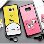 เคส Samsung Galaxy Note 5 พลาสติก TPU ยืดหยุ่นได้สกรีนลายน่ารักมากๆ + แหวนที่ตั้งและสายคล้อง ราคาถูก