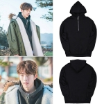 เสื้อฮู้ด (Hoodie) สีดำมีซิป แบบ Nam Joohyuk ในซีรี่ย์ Weightlifting Fairy Kim Bok-Joo