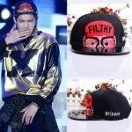 หมวกแฟชั่น EXO KRIS FILTHY Avatar ปีกแบน