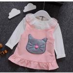 เสื้อ+ชุดกระโปรง สีชมพู แพ็ค 4ชุด ไซส์ 6-8-10-12