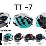 หมวกจักรยาน MAXMUS CYCLING HELMET,TT-7 (มีแว่น 2 ชิ้น)