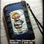 กระเป๋าสองซิป ผ้าทอญี่ปุ่น + paper doll - สั่งทำค่ะ