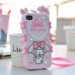 เคส iPhone 4 / 4S ซิลิโคน TPU 3 มิติ มายเมโลดี้ น่ารักมากๆ ราคาถูก (ไม่รวมสายคล้อง)