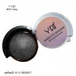 Y-Cid eye shadow 04 สีเทาดำ