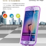 Case Samsung S6 Edge ซิลิโคน TPU soft case แบบฝาพับโปร่งใสสีต่างๆ สวยงามมากๆ ราคาถูก