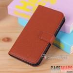 เคส S4 Case Samsung Galaxy S4 i9500 เคสกระเป๋าหนังฝาพับข้าง สวยๆ เรียบๆ หรูๆ สามารถตั้งได้ ใส่บัตรได้ bracket holster card left and right to open a business i9500 leather case litchi grain wallet sets