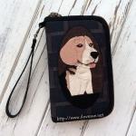 กระเป๋าสองซิป ลายสุนัขบีเกิ้ล - สั่งทำไม่มีพร้อมส่ง