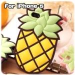 case iphone 5 เคสไอโฟน5 Moschino สับปะรดเคสซิลิโคน 3D แปลกๆ แนวๆ