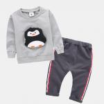 เสื้อ+กางเกง สีเทา แพ็ค 4ชุด ไซส์ 70-80-90-100 (เหมาะสำหรับ 1-4ขวบ)