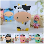 case iphone 5 เคสไอโฟน5 เคสวัวนม โคนม น่ารักๆ ซิลิโคน 3D South Korean cows silicone case
