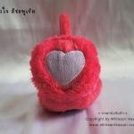 [พร้อมส่ง] KH2570 ที่ปิดหูกันหนาว/ที่ครอบหูกันหนาว รูปหัวใจ สีชมพูเข้ม