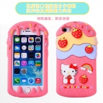 เคส iphone 4 เคสไอโฟน4s Kitty strawberry cake silicone case
