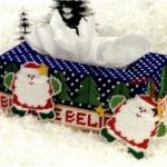กล่องทิชชูทรงยาว ลายซานต้า