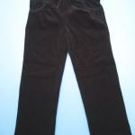 BRG007 Greendog กางเกงขายาวสำหรับเด็กผู้หญิง ผ้ากำมะหยี่สีดำ จับจีบกระเป๋าหน้า สไตล์สปอร์ต Size 4/5 ขวบ