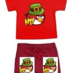 ANG143 Angry Birds เสื้อผ้าเด็ก ชุดนอน-ชุดลำลอง แขนสั้นขาสั้น เนื้อนิ่มใส่สบาย เหลือ Size 18-24M