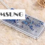 เคส Samsung Galaxy Note 3 พลาสติกมีกากเพชรฟรุ้งฟริ้ง+ผีเสื้อน้อยน่ารักมากๆ ราคาถูก