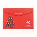 EXO MID แฟ้มพลาสติกสีแดง(การ์ตูน)