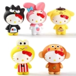 (พร้อมส่ง) ตุ๊กตาโมเดลเฮลโหลคิตตี้ชุดมาสตอตซานริโอ Hello Kitty wear sanrio mascot costume set 5 pcs.