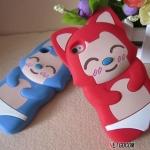 case iphone 4s 4 เคสซิลิโคน 3D ทานุกิน่ารักๆ Korea dimensional tanuki