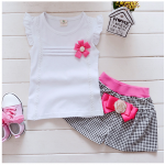 เสื้อ+กางเกง สีขาว แพ็ค 4ชุด ไซส์ S-M-L-XL