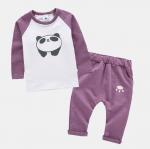 เสื้อ+กางเกง สีม่วง แพ็ค 4ชุด ไซส์ 70-80-90-100 (เหมาะสำหรับ 1-4ขวบ)